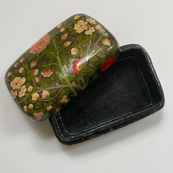Vintage Garden Floral Small Trinket Box